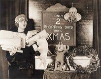 Endast två shoppa dagar till Xmas Arkivbild