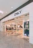 Endast uttag för modekläder i den Livat shoppinggallerian, Peking, Kina Fotografering för Bildbyråer