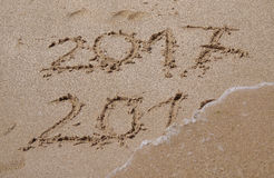 Ende 2016, Beginn 2017 Lizenzfreies Stockfoto