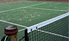 Ende der Tennis-Jahreszeit Lizenzfreie Stockfotos