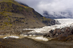 Ende des Gletschers stockbild