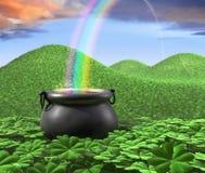 Ende des Regenbogens Stockfotos