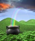 Ende des Regenbogens Stockbilder