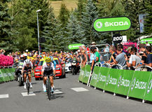 Ende des Stadiums 17 in Serre-Ritter, Tour de France 2017 Stockfotografie