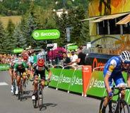 Ende des Stadiums 17 in Serre-Ritter, Tour de France 2017 Lizenzfreie Stockfotografie
