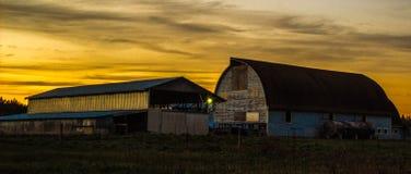 Ende des Tages auf dem Bauernhof Stockbild