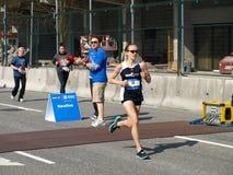 Ende des Vancouver-Marathons Stockfotos