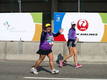Ende des Vancouver-Marathons Stockbild