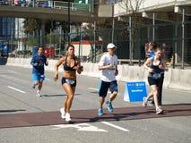 Ende des Vancouver-Marathons Lizenzfreie Stockfotografie