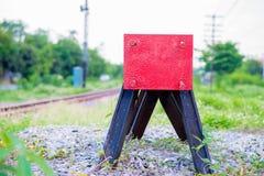 Ende des Zugs Stockfoto