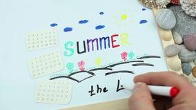 Ende einer Sommersaison stock video footage