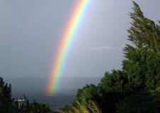 Ende Honoka'a des Regenbogens Lizenzfreie Stockbilder