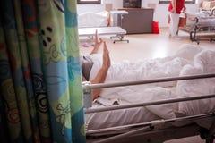 Am Ende kranker Patient Stockfotos