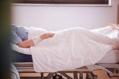 Am Ende kranker Patient Stockbild