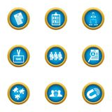 Endeavor icons set, flat style. Endeavor icons set. Flat set of 9 endeavor vector icons for web isolated on white background Stock Photography