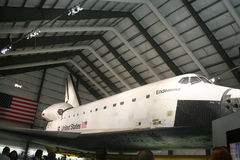 Endeavor Space Shuttle. On exhibit at the L.A. County Museum Royalty Free Stock Image