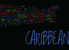 Endeavors In The Caribbean For Active Travelers Word Cloud Concept Royalty Free Stock Photography
