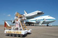 Endeavour with Endeavour OV-105 Stock Images