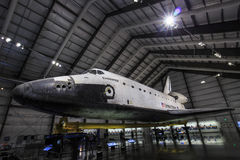 Endeavour space shuttle. Famous Endeavour space shuttle indoor Stock Images