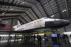 Endeavour space shuttle. Famous Endeavour space shuttle indoor Royalty Free Stock Photo