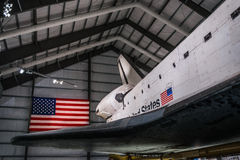 Endeavour Space Shuttle. Los Angeles, CA - December 30, 2015: Endeavour Space Shuttle in California Science Center on December 30, 2015 Stock Photos