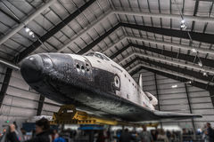Endeavour Space Shuttle. Los Angeles, CA - December 30, 2015: Endeavour Space Shuttle in California Science Center on December 30, 2015 Royalty Free Stock Photo