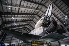Endeavour Space Shuttle. Los Angeles, CA - December 30, 2015: Endeavour Space Shuttle in California Science Center on December 30, 2015 Royalty Free Stock Photos