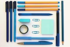 Endecha azul del plano de los efectos de escritorio fotografía de archivo libre de regalías