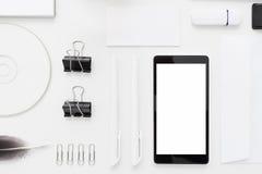 Endecha blanca y negra del plano de los dispositivos de memoria Fotografía de archivo libre de regalías