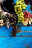Endecha mediterránea italiana apetitosa sabrosa del plano de los ingredientes alimentarios Foto de archivo