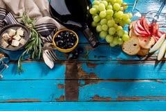 Endecha mediterránea italiana apetitosa sabrosa del plano de los ingredientes alimentarios Imagen de archivo