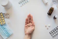 Endecha plana blanca conceptual médica imagen de archivo libre de regalías