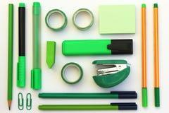 Endecha verde del plano de los efectos de escritorio Imagen de archivo libre de regalías