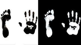 Enden-Handabdrückeidentifizierungsbiometrie des menschlichen Fußes Lizenzfreie Stockbilder