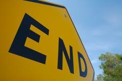 Enden-Verkehrszeichen Stockbilder