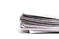 Endenansicht einer Zeitung Stockbild