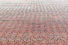 Endenbacksteinmauer des großen Hauses Rot, orange Backsteinmauer erhält herein Stockfotos