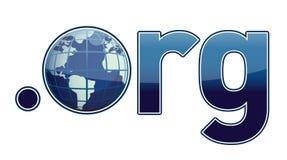 Endereço de Domain Name de ORG ilustração do vetor