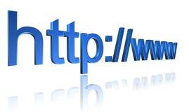 Endereço de URL da Web ilustração royalty free