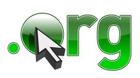 Endereço e cursor de Domain Name do ponto ORG Fotografia de Stock