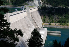 endiguez hydro-électrique Photos libres de droits