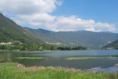 Endine lake. On northern Italy Bergamo country Royalty Free Stock Images