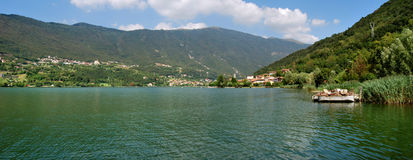 Endine lake. Gaiano, endine lake, cavallina valley bergamo country Stock Images