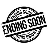 Ending soon stamp. Grunge design with dust scratches. Effects can be easily removed for a clean, crisp look. Color is easily changed Royalty Free Stock Photos