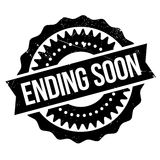 Ending soon stamp. Grunge design with dust scratches. Effects can be easily removed for a clean, crisp look. Color is easily changed Royalty Free Stock Image