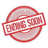 Ending soon stamp Stock Photo