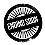 Ending soon stamp. Grunge design with dust scratches. Effects can be easily removed for a clean, crisp look. Color is easily changed Stock Images