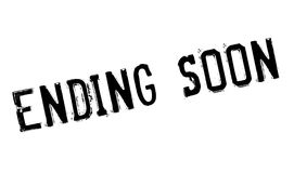 Ending soon stamp Stock Photography