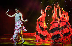 Ending ---The Spanish National Dance stock image