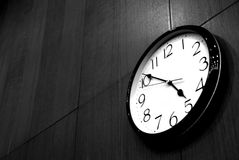 Ending Working Time.. royalty free stock image
